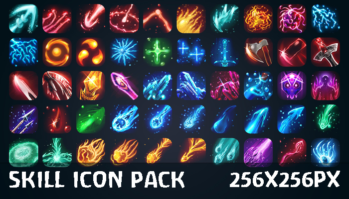 Skills & Spells Icon Pack [50]