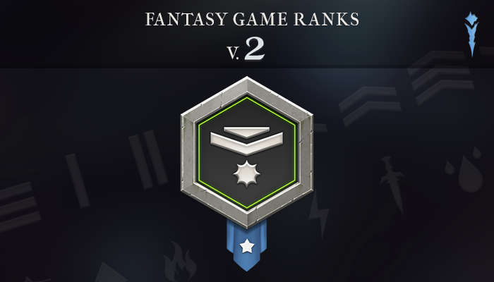 Fantasy Game Ranks V.2