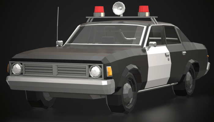 Low-Poly Police Car 02