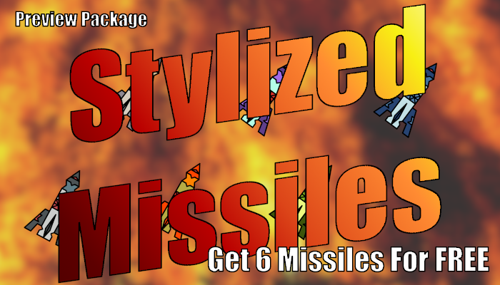 2D Stylized Missiles (Free Preview)