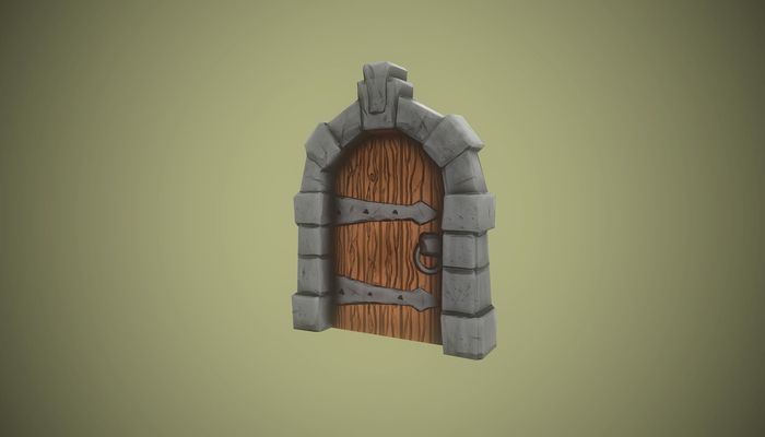 stylized door