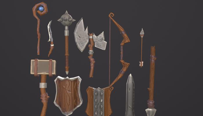 Stylized Fantasy RPG Starter Weapons Pack