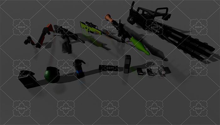 Low Poly Gun Pack