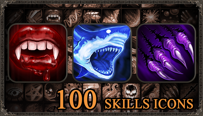 Skills Icons: Elementals. Pack 2