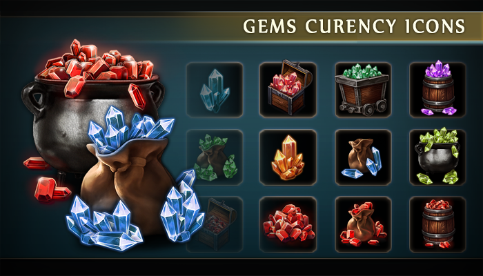 Gems Currency Icons