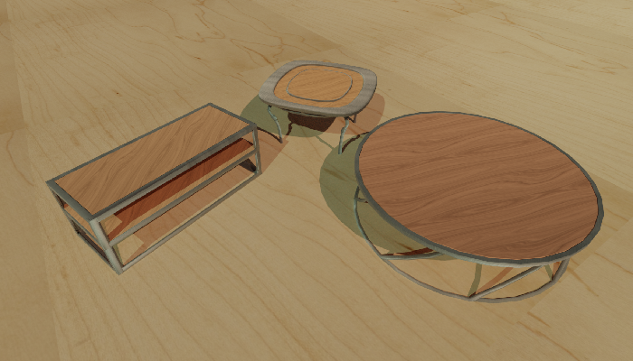 Wooden Coffee Table Pack 1