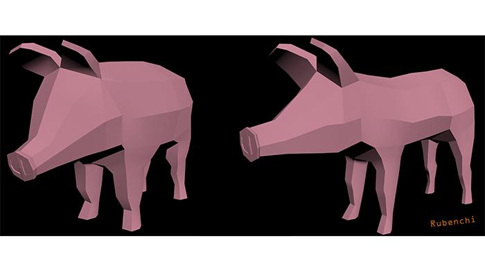 Lowpoly porks