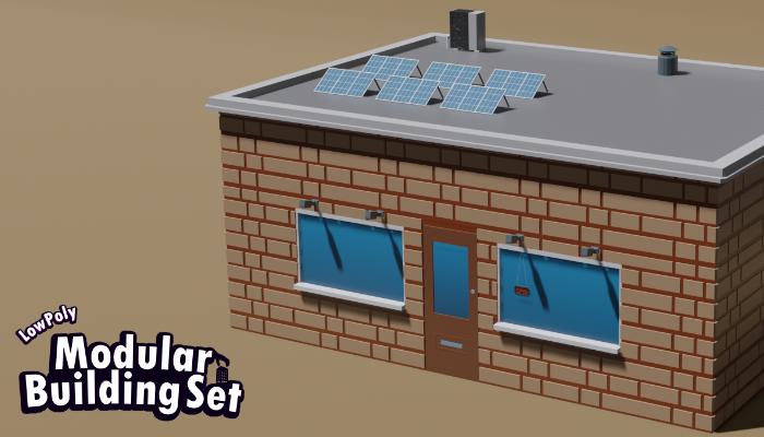 Low Poly Modular Building Set