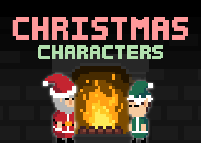 Pixel Art Christmas Characters (With Animations)