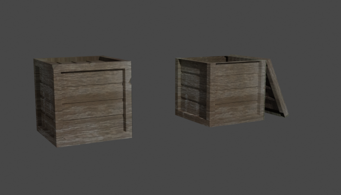 Low Poly Crates for RPG