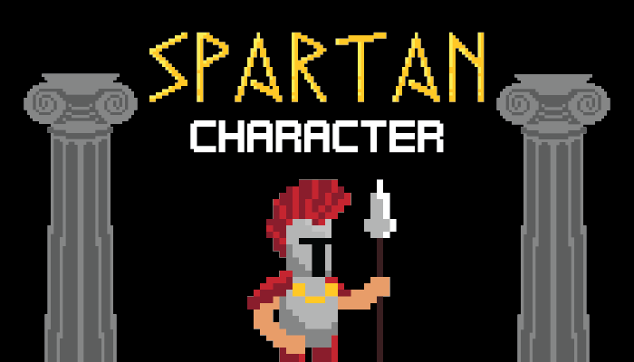 Pixel Art Spartan Warrior (With Animations)
