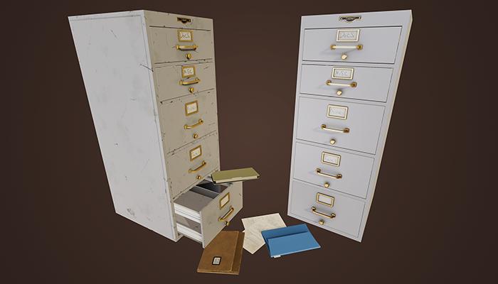 Vintage Filling Cabinet