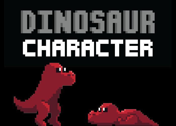 Pixel Art Dinosaur (With Animations)
