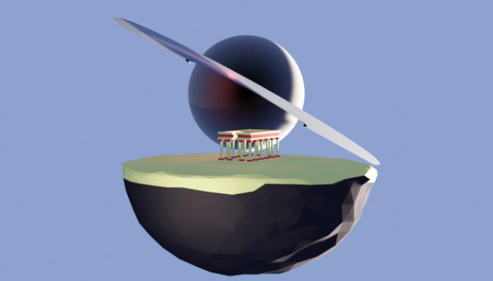 Planet Greece desert LowPoly Low-poly 3D model