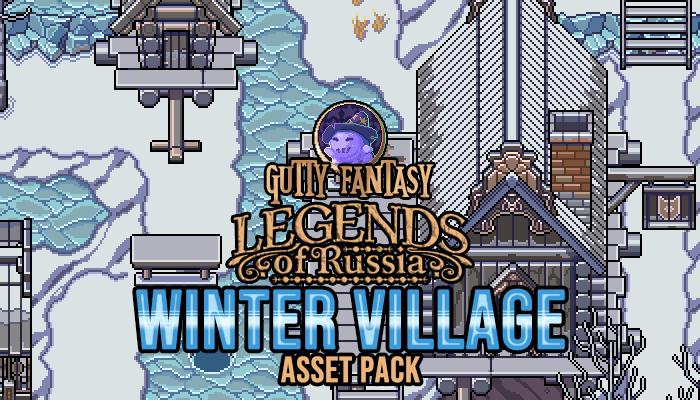 Gutty Fantasy: Winter Village Game Assets