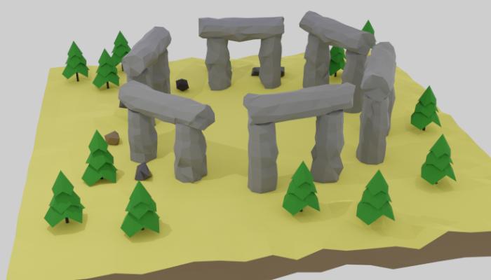 Stonehenge Low-poly 3D model