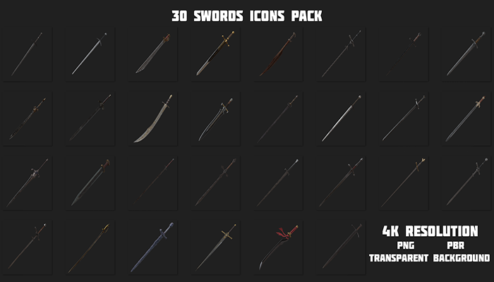 30 Swords Icons Pack