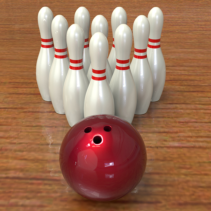 Bowling game 3d model