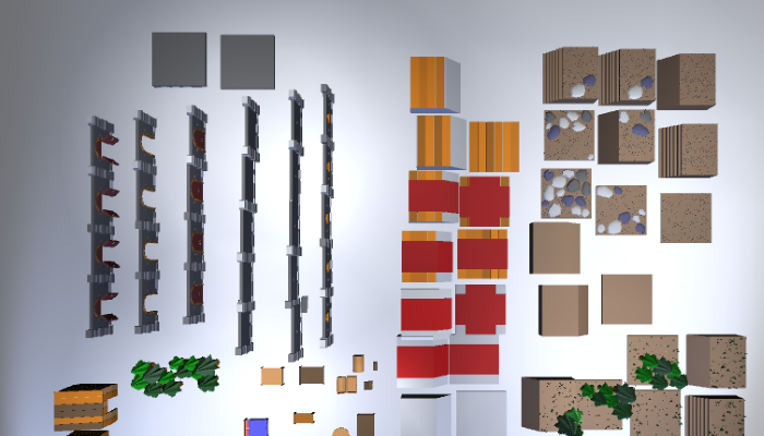3d Modular Forest Tileset and Walls