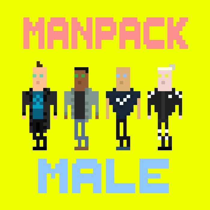 Pixel Mans Pack (male)