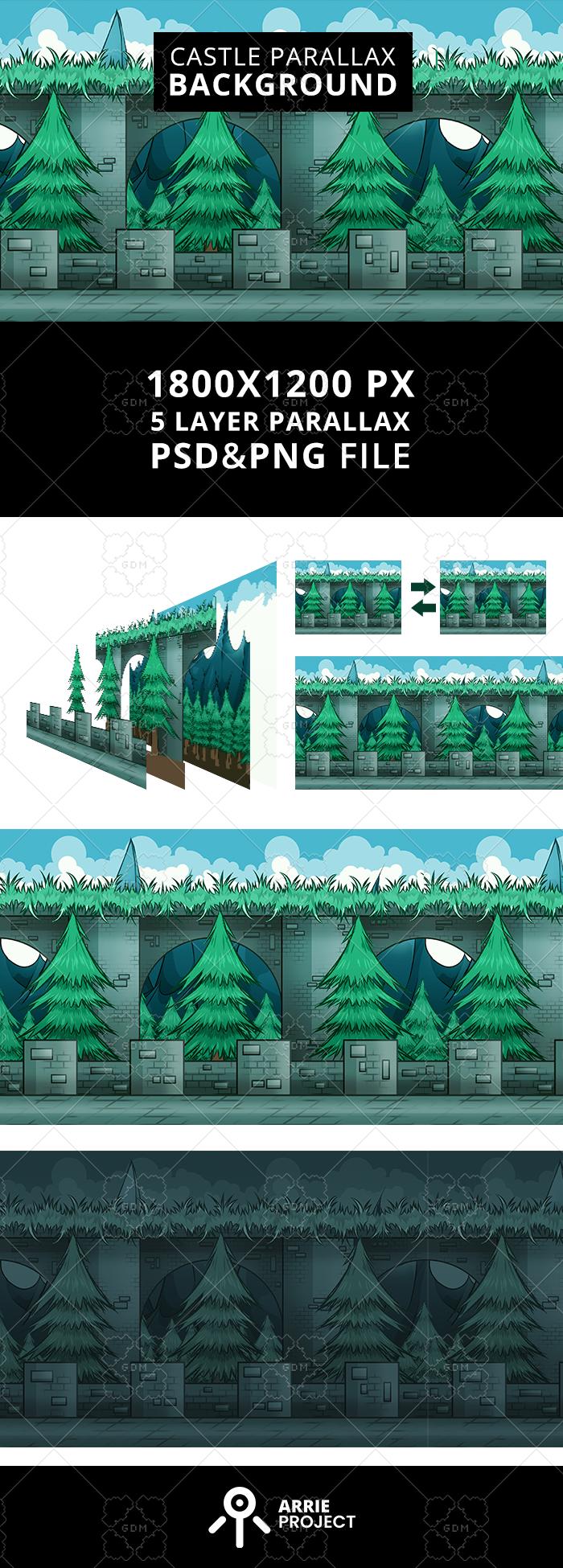 Castle Parallax Background