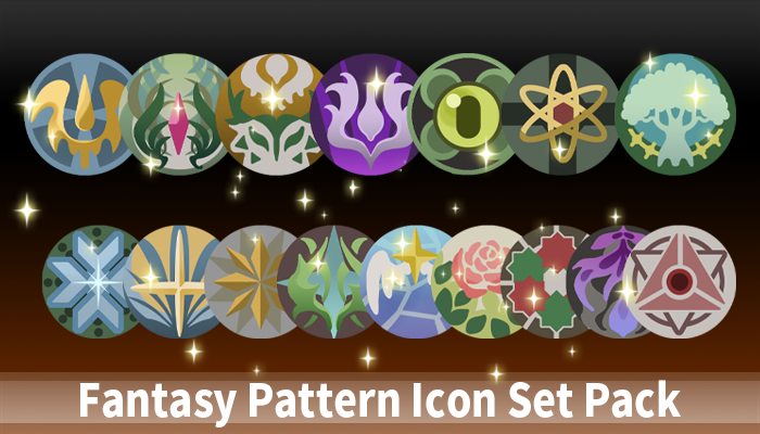 Fantasy Pattern Icon Set Pack