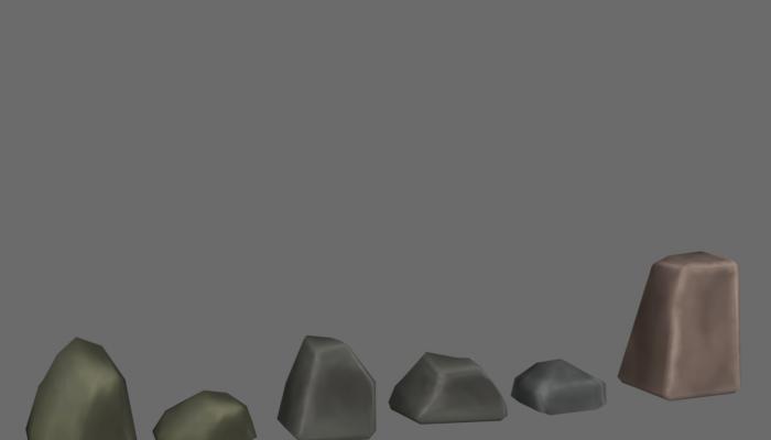 Stylized Rocks low poly