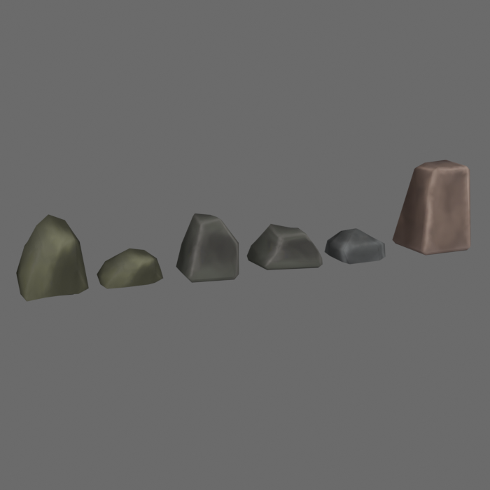 Stylized Rocks low poly