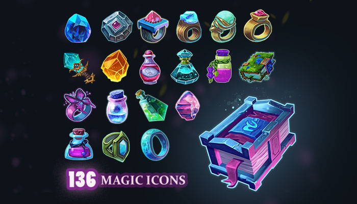 Stylized Magic Icons Pack