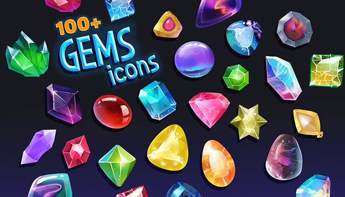 Stones & Gem Icon Pack