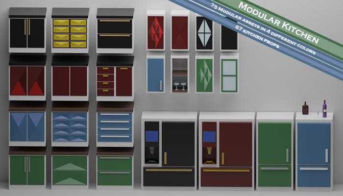 Modular Kitchen Assets