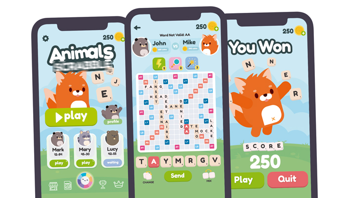 Animals Words Game Gui Assets