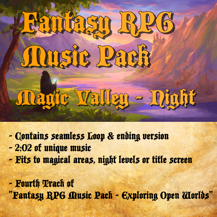 Fantasy RPG Music – Magic Valley (Night Version)