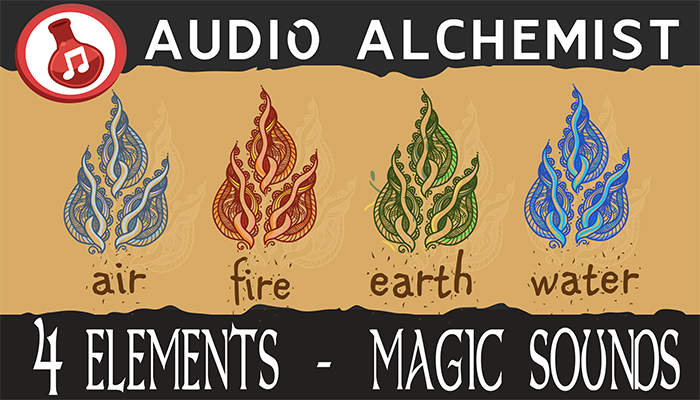 4 Elements – Magic Sounds (Air, Fire, Earth, Water)