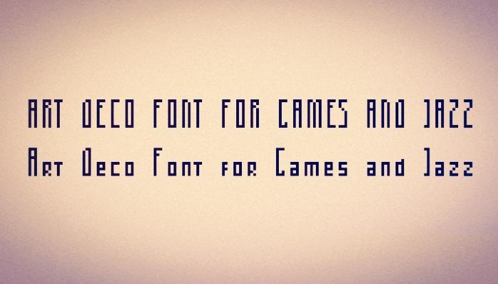 Art Deco Pixel Font