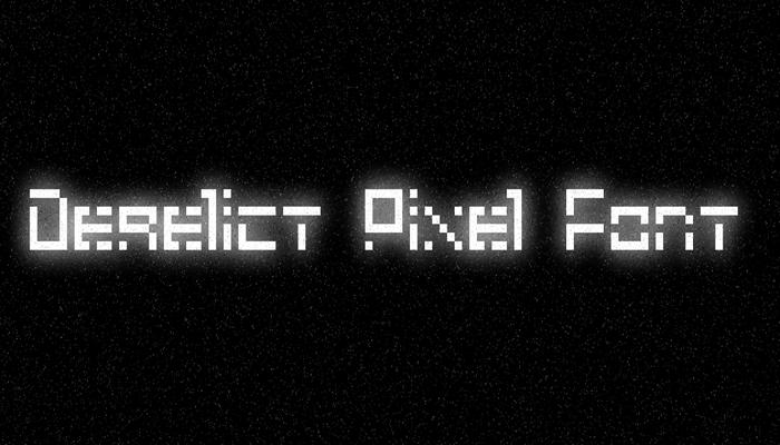 Derelict Pixel Font