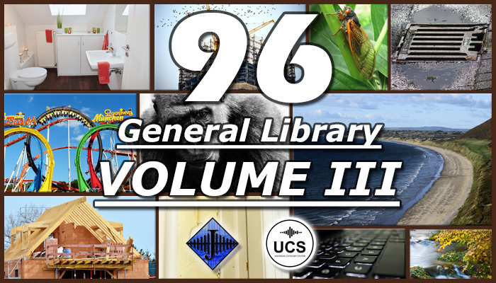 96 General SFX Library (Volume III)