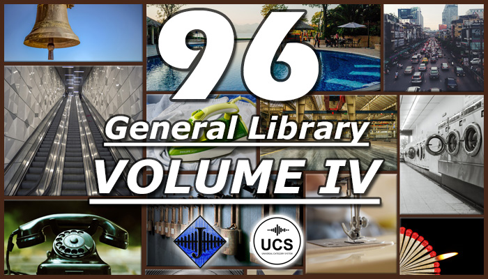 96 General SFX Library (Volume IV)