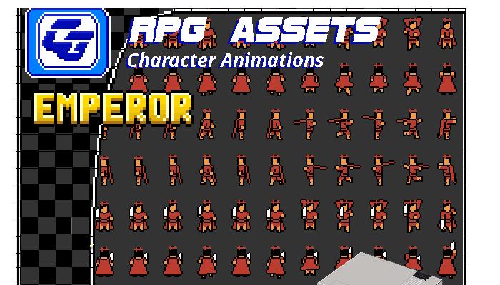 RPG Asset Character 'Emperor' NES