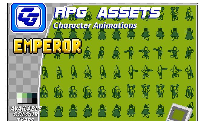 RPG Asset Character 'Emperor' Gameboy
