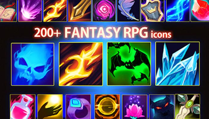 200+ Fantasy RPG Icons