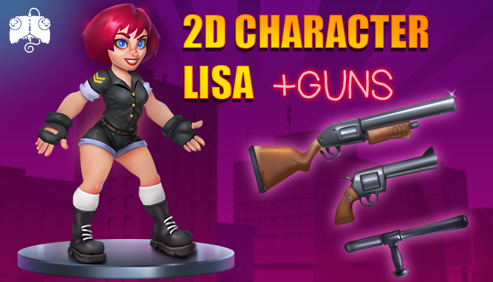 2D Animated Character – LISA