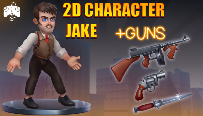 2D Animated Character – JAKE