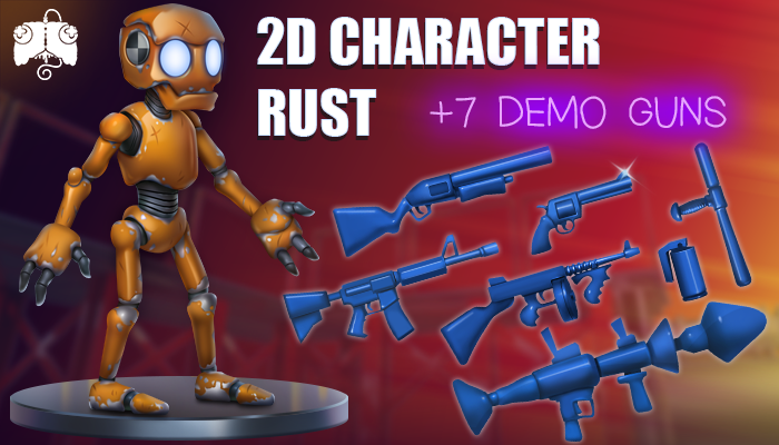2D Animated Character – RUST