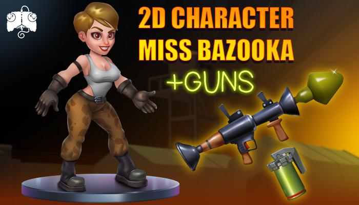 2D Animated Character – MISS BAZOOKA
