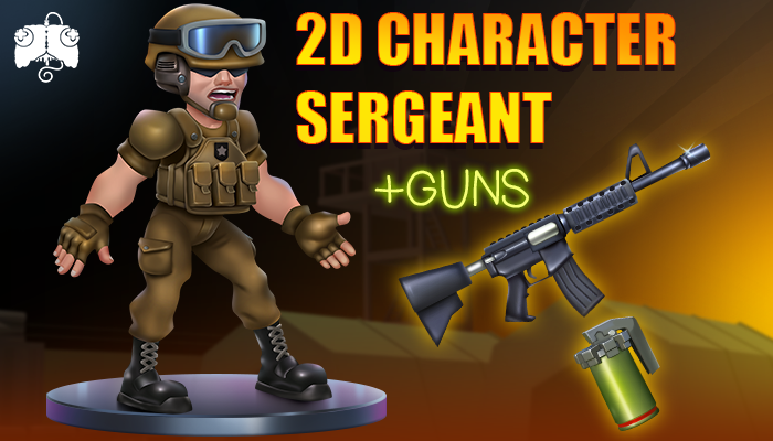 2D Animated Character – SERGEANT