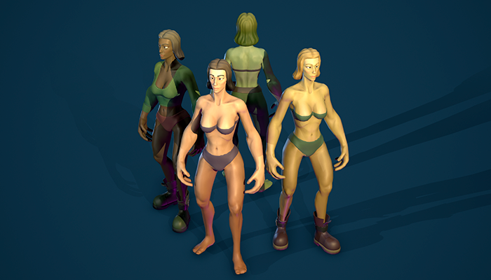 Stylized Human Female