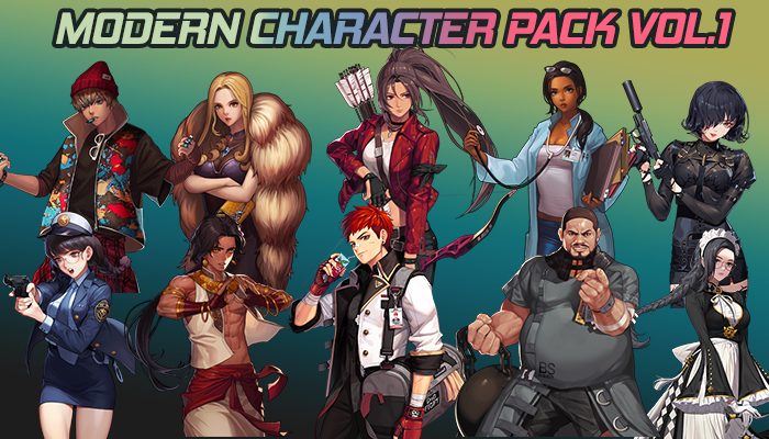 Modern Character Pack Vol.1 – (10 Character)