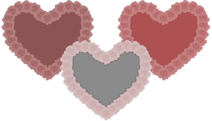 55 x Rose Bouquet Hearts – Vector Ready