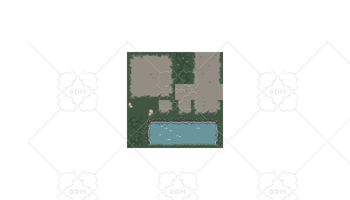Gloomy Meadow Path (And River Tiles)